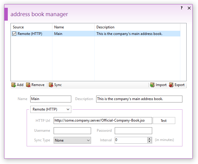 Address Book Manager