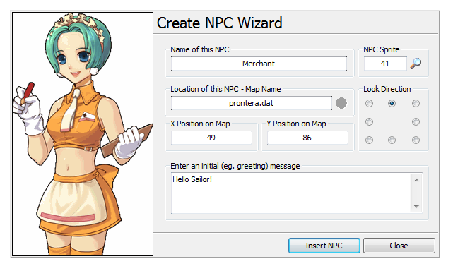 Create NPC Wizard